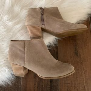 Sole Society Alexis Tan Cow Suede Ankle Booties